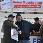 Stimmungsmache der Aktivist_innen um u. a. den DF-Bayern-Generalsekretär Thomas Weiß. Foto: Hannah Hofmann