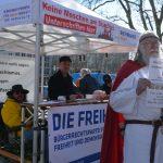 Rassistische Agitation bei der DF-Kundgebung. Foto: Hannah Hofmann