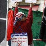 Antimuslimische Agitation bei DF. Foto: Tim Karlson