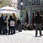 Der DF-Infostand am Rindermarkt. Foto: Tim Karlson