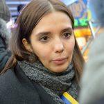 Auch Evgenia Timoschenko kommt zur 'Maidan'-Aktion in München. Foto: a.i.d.a.