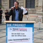 Die DF präsentiert ihr Geschichtsbild (Redner: Michael Stürzenberger). Foto: Sascha Arnhoff