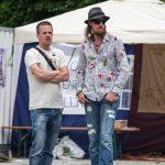 Marcel Wojnarowicz (l.) und Lars Mährholz (r.) bei der 'Friedensfusion' in München. Foto: Sascha Arnhoff.