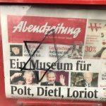 Davidstern auf einem Kasten der Abendzeitung. Foto: firm