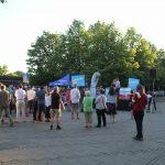 Die AfD hatte für die Veranstaltung eigens eine Bühne aufgebaut. Foto: Anne Wild