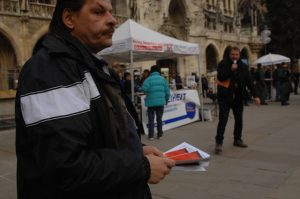 DF-Agitation auf dem Marienplatz. Foto: Robert Andreasch