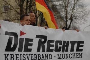 Kundgebungstour der Neonazipartei 'Die Rechte'. Foto: Robert Andreasch