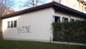16. November 2015 - Rechtsradikales Graffito