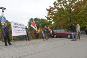 NPD-Kundgebung vor dem US-Konsulat. Foto: Benny Neudorff
