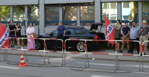 Solidaritätskundgebung für den Holocaustleugner Horst Mahler Ende Mai 2017 in München Foto Marcus Buschmüller