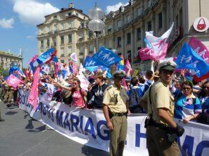 """""""Le Manif pour tous"""" im August 2013 am Münchner Stachus. Foto. Marcus Buschmüller"""
